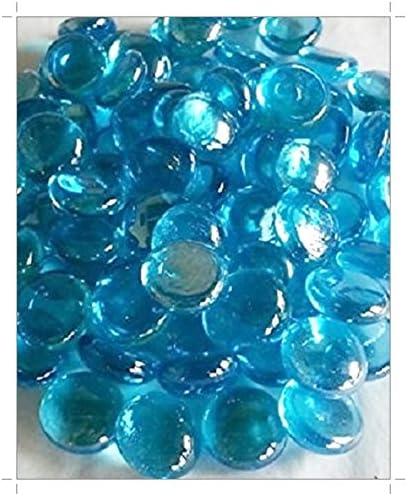 SOOTHING IDEAS 500g Glass Pebbles Aqua 20mm app 115