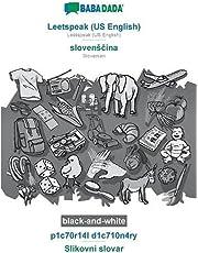BABADADA black-and-white, Leetspeak (US English) - slovensčina, p1c70r14l d1c710n4ry - Slikovni slovar: Leetspeak (US English) - Slovenian, visual dictionary