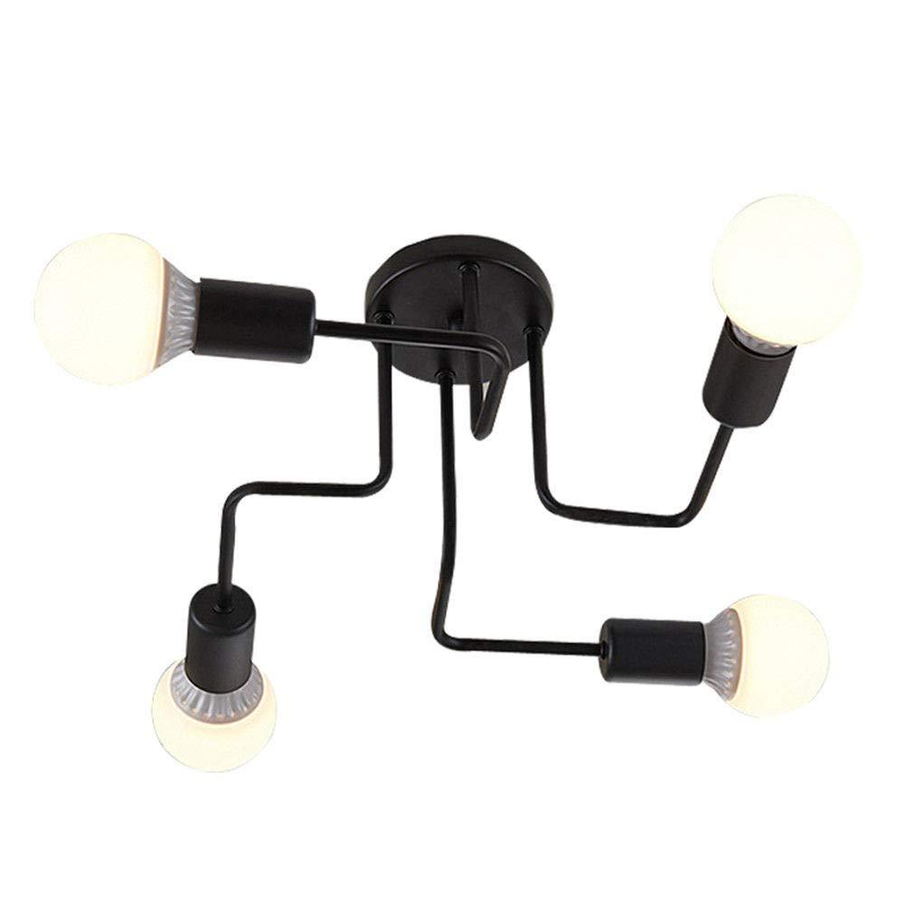 Modernes Design Retro-Licht Vintage 4Heads E27 Industrie Pendelleuchte Eisen Schwarz Weiß Esszimmer KüChe Bar Pendelleuchte Halter Leuchte 110-240V
