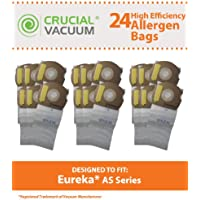 24 Replacements for Eureka AS Paper Bags, Compatible With Part # 66655, 68155-6, 68155 & 67726, by Think Crucial