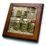 ft_82497_1 Danita Delimont - Romania - Romania, Cheia, Preserved vegetables, Canning - EU24 GJE0447 - Gavriel Jecan - Framed Tiles - 8x8 Framed Tile