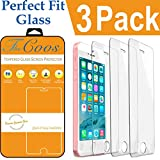 iPhone SE Screen Protector, TheCoos iPhone SE 5S Tempered Glass Screen Protector For iPhone SE 5S [3D Touch Compatible][3-PACK]
