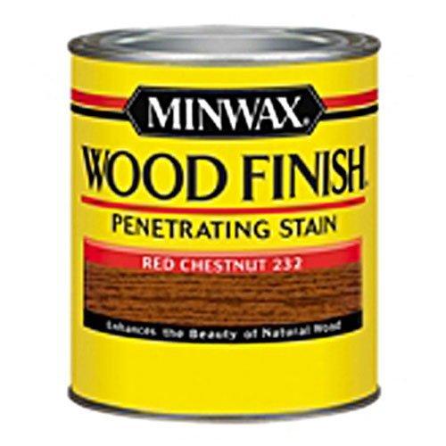 Minwax 223204444  Wood Finish Penetrating Interior Wood Stain, 1/2 pint, Red Chestnut Interior Finish