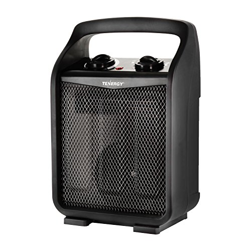 Tenergy 1500W/750W Portable Space Heaters with Adjustable Thermostat, Recirculation Air Electric Fan Heater with Auto Shut Off Switch, Tip-over & Overheat (Electric Fan Forced Heater)