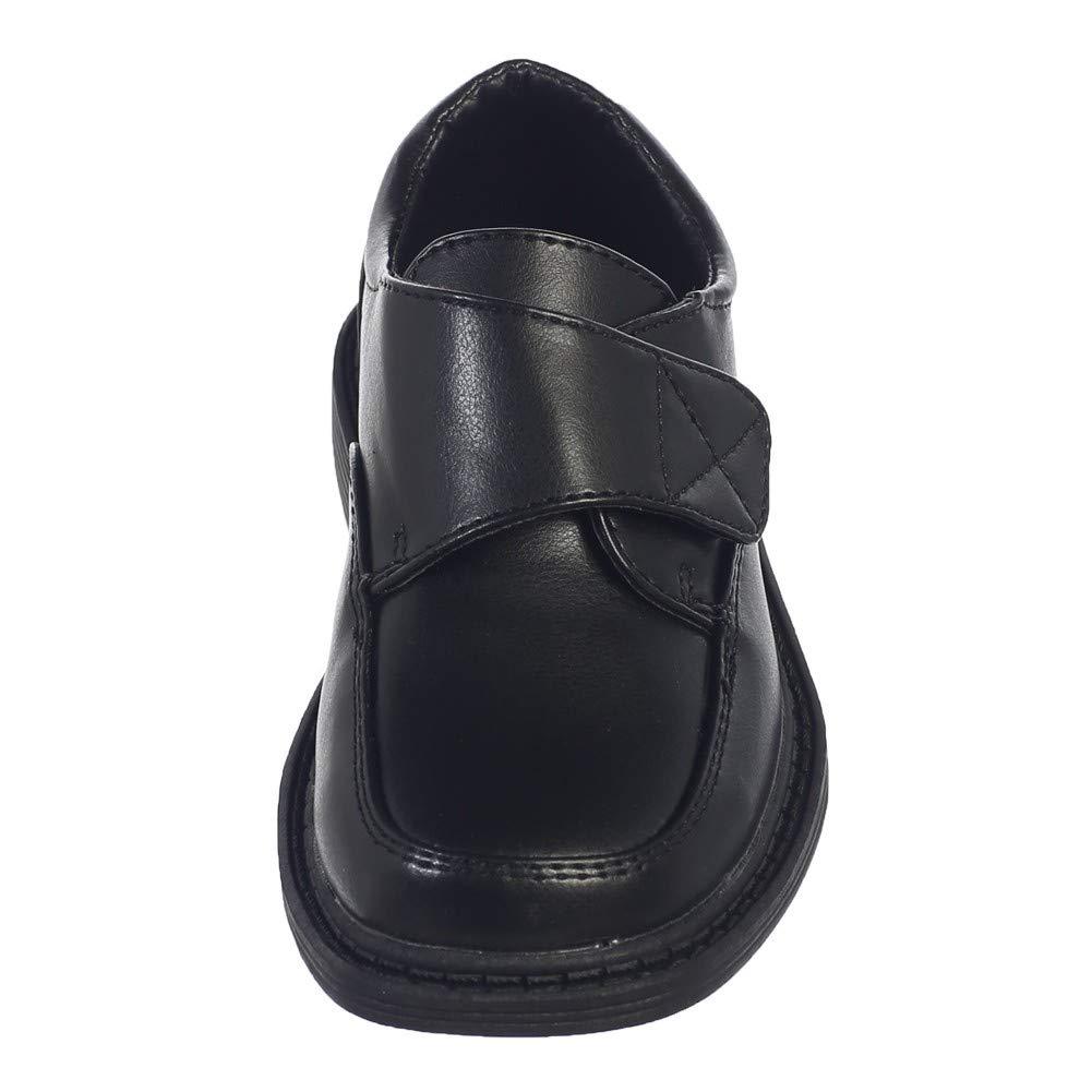 Lito Toddler Boys Black Matte Special Occasion Dress Shoes 5-10
