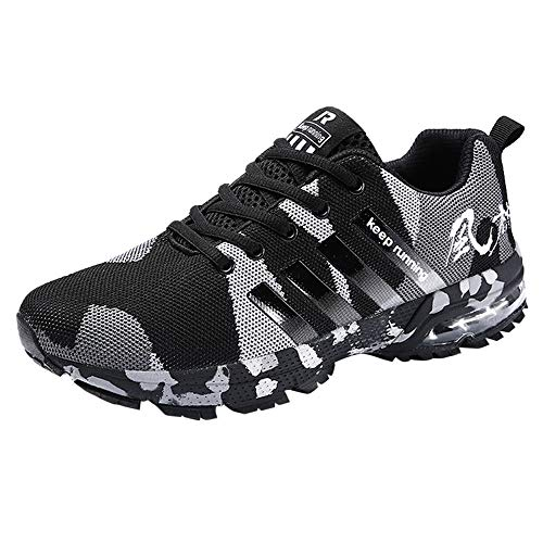 Respctful ◉Men Shoes Sneakers Running Slip-On Socks Shoes Outdoor Casual Walking Sport Hiking Shoes Black ()