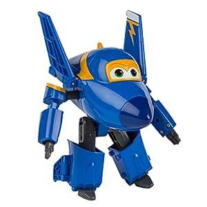 Super Wings Personaje Transformable Jerome, 15 cm, Color Azul y Amarillo (ColorBaby 75874)