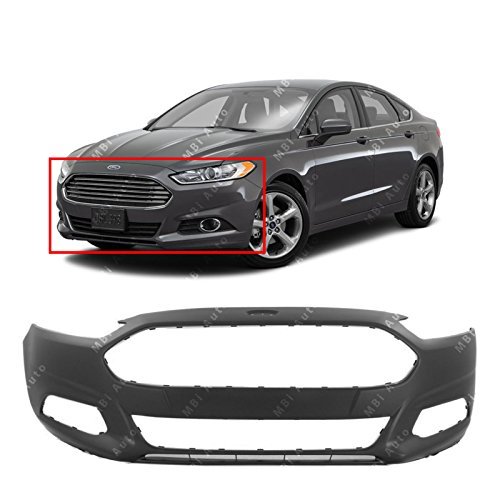 MBI AUTO - Primered, Front Bumper Cover Fascia for 2013-2016 Ford Fusion 13-16, FO1000680 (Aftermarket Front Bumpers)