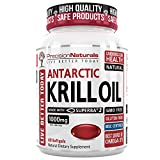 Krill Oil 1000mg/Serving Softgel Capsules Source of Pure Omega 3s EPA DHA and Astaxanthin Suberba2 (TM) MSC Certified Red Oil Supplement for Mega Results Best Antarctic Fish Oil Supplement