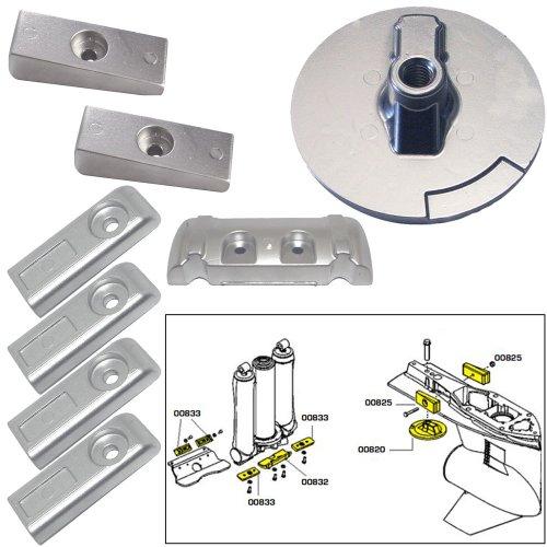 Tecnoseal Anode Kit w/Hardware - Mercury Verado 6 - Aluminum (52042)