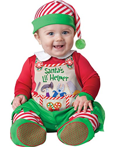 [InCharacter Costumes Baby's Santa's Lil' Helper Costume, Red, X-Small] (Childrens Santas Helper Costume)