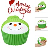 BBTshop Santa Hat Scented Squishies Slow Rising Squeeze Toys Stress Reliever Toys
