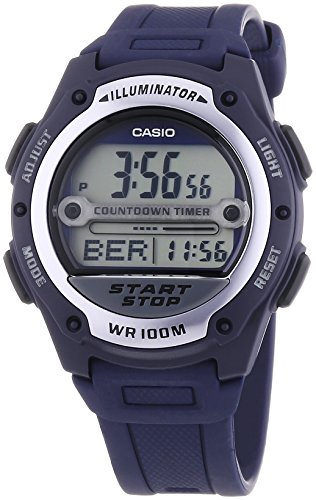 CASIO W756 Gents Digital Illuminator Multi Function Blue Strap Watch Xmas Gift