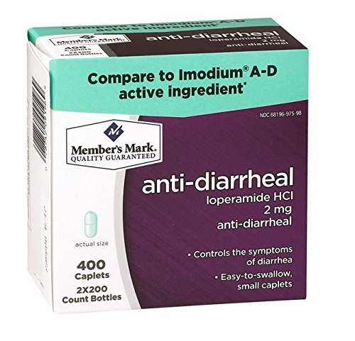 Member's Mark Anti-diarrheal Caplets (Compare To Imodium A-D), 400-Count by Members Mark