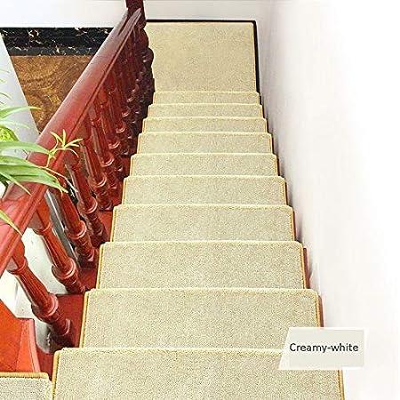 Chihen Cuadrado Escalones Alfombra Almohadillas Autoadhesivas Alfombra Antideslizante para Escalera Espesar Alfombras De Paso Blanco Conjunto Step Mats (Color : A(80x24cm), Size : 15pcs): Amazon.es: Hogar
