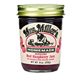 Mrs. Millers Sugarless Jam Variety Pack: Rhubarb Strawberry, Seedless Red Raspberry, Peach (1 Jar of Each)