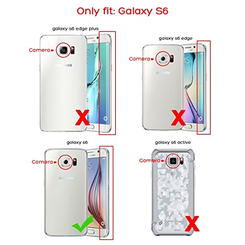 Galaxy S6 Case, S6 Case - ULAK Hybrid Shock Resistant Rubber Case Cover 3in1 Hard Plastic +Soft Silicone for Samsung Galaxy S6 (Follow the Sky/Blue)