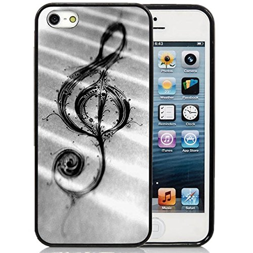 Price comparison product image iPhone 5S Case, iPhone 5S Black Case,  Dsigo TPU Full Cover Protective Case for New Apple iPhone 5S - Spread music notation