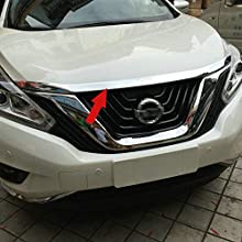Fit for Nissan Murano 2015 2016 2017 2018 2019 Front Hood Grill Cover Bonnet Molding Trim