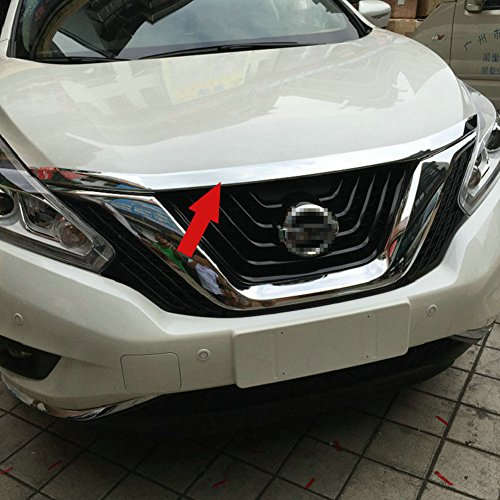 Fit For Nissan Murano 2015 2016 2017 2018 Front Hood Grill Cover Bonnet Molding Trim