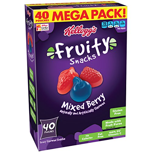 - Kellogg's Fruity Snacks, Mixed Berry, 40 Count
