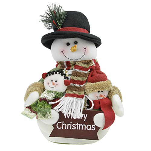 BXT Merry Christmas Ornaments Gifts-Snowman/Santa Claus Stuffed Doll Toys for Indoor/Desk/Tree Decor