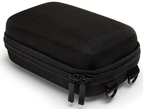 Bundlestar Hardcase PURE BLACK Größe L Kameratasche schwarz (mit Schultergurt und Gürtelschlaufe) Für Sony CyberShot HX50 HX60 HX80 HX90 -- Nikon CoolPix A900 S9900 -- Panasonic Lumix DMC TZ81 TZ71 -- Canon PowerShot SX710 SX720