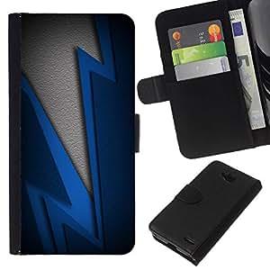 All Phone Most Case / Oferta Especial Cáscara Funda de cuero Monedero Cubierta de proteccion Caso / Wallet Case for LG OPTIMUS L90 // Blue Lightning