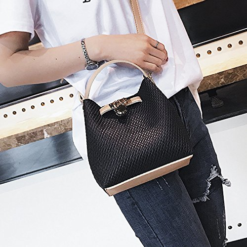 Bag Satchel Straw Tote Fashion Cube Woven Joker Bags Girls Single Style Bag woven Shoulder Shoulder Hand White Black Small Handbags Olici IRCqwP5