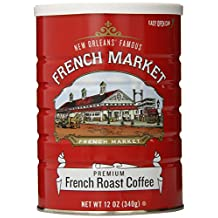 FRENCH MARKET Coffee, French Roast Pure Coffee, 12 Ounce Can