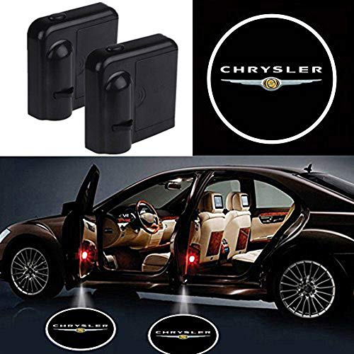 Wireless Car Door Led Welcome Laser Projector Logo Light Ghost Shadow Light Lamp Logos For Chrysler All models(2 Pcs)