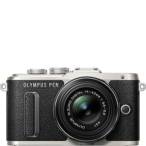 Olympus-E-PL8-with-14-42mm-IIR-Silver-Lens-with-3-Inch-LCD-White