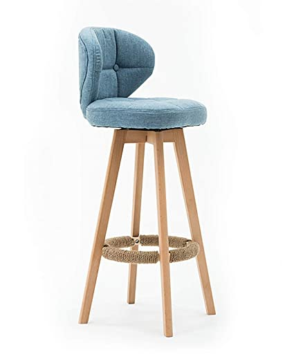 Amazon.com - Bar Stool with Cloth Seat Strong Legs,Padded ...