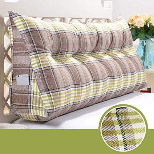 三角形のくさび枕、読書クッション、背中、首と腰のスタンド、ホームオフィスの枕に適しています5色、7サイズ(色:緑のストライプ、サイズ:100 cm)