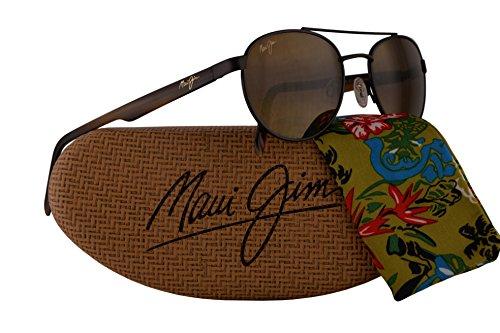 Maui Jim Upcountry Sunglasses Matte Chocolate w/Polarized Bronze Lens - Jim Sunshine Maui Sunglasses