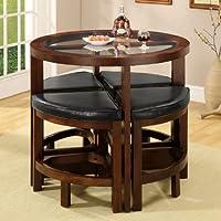 247SHOPATHOME Idf-3321PT-5PK Dining-Room-Sets, Brown