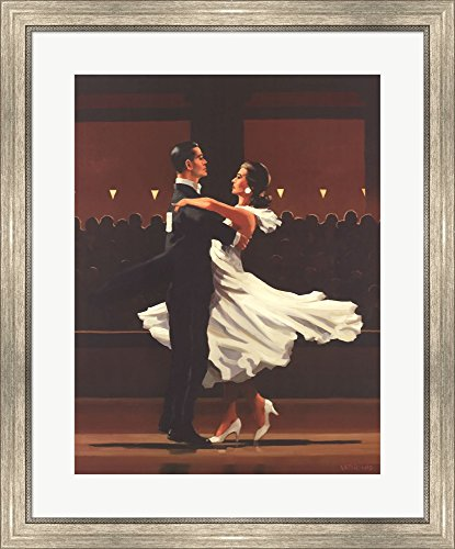 (Take This Waltz by Jack Vettriano Framed Art Print Wall Picture, Silver Scoop Frame, 26 x 31 inches)