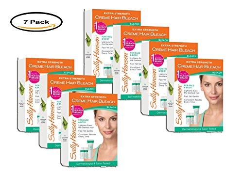 PACK OF 7 - Sally Hansen Extra Strength Creme Hair Bleach For Face & Body Kit, 1.0 KIT
