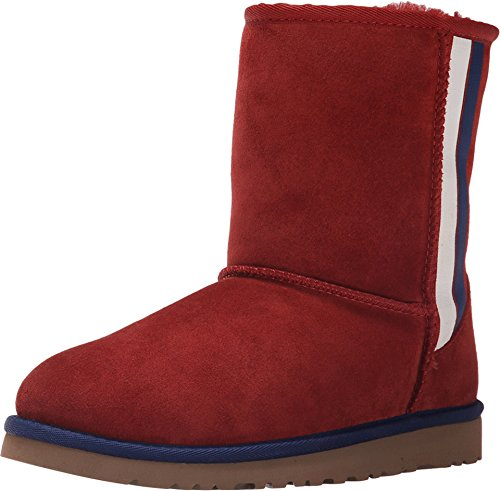 UGG Kids Unisex Classic Short Prix (Big Kid) Matador Red Suede 5 M US Big Kid by UGG