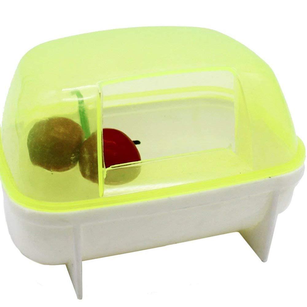 Potelin Pet Bathroom Hamster Plastic Bathroom Deodorization Bathroom Can Be Used for Hamster Bathing Yellow