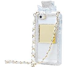 Tobestronger Diamond Crystal Perfume Bottle Shaped Chain Handbag Case Cover For Iphone 6 plus 5.5 inch (white)