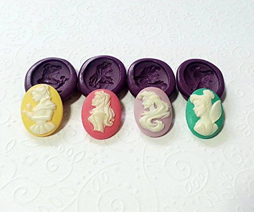 Cameo Moulds - Silicone Molds Princess Cameo Set (25mm) Fondant Cake Decoration Jewelry