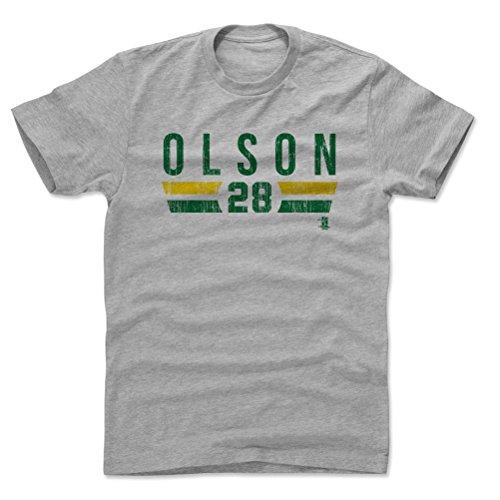 500 LEVEL Matt Olson Cotton Shirt Large Heather Gray - Oakland Baseball Men's Apparel - Matt Olson Oakland Font G