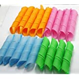 AwesomeMall 18pcs Hair Rollers Snail Rolls Styling Curler Tools Easy At Home DIY Natural Way
