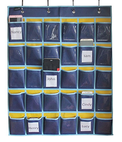 Classroom Hanging Organizer Pocket Chart for Cell Phones Business Cards Holder (Cornhole Bags Canada compare prices)