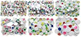 Set of 798 Googly Eyes! 6 Assorted Sizes! Non-Adhesive Googly Eyes Perfect for Arts and Crafts that Need Eyes to Stay! (Rainbow Mix Eyes)