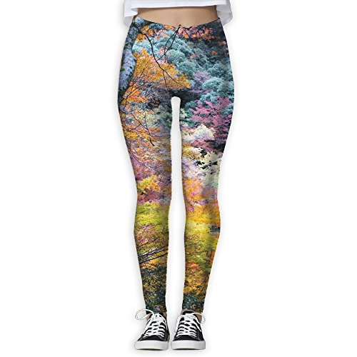 Spotrpant Amazing Japanese Fall Women Printed Full-Length Yoga Workout Leggings For Running Outdoor Sports