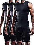 Neleus Men's 3 Pack Sport Compression Under Base