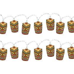 Amscan Set of 2 Tropical Tiki 9 ft. Plastic String Lights bundled by Maven Gifts