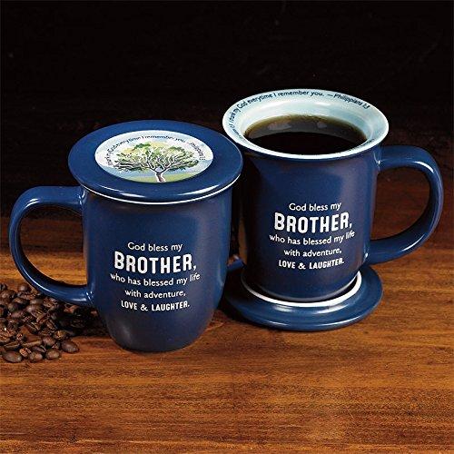 God Bless My Brother Coaster Mug
